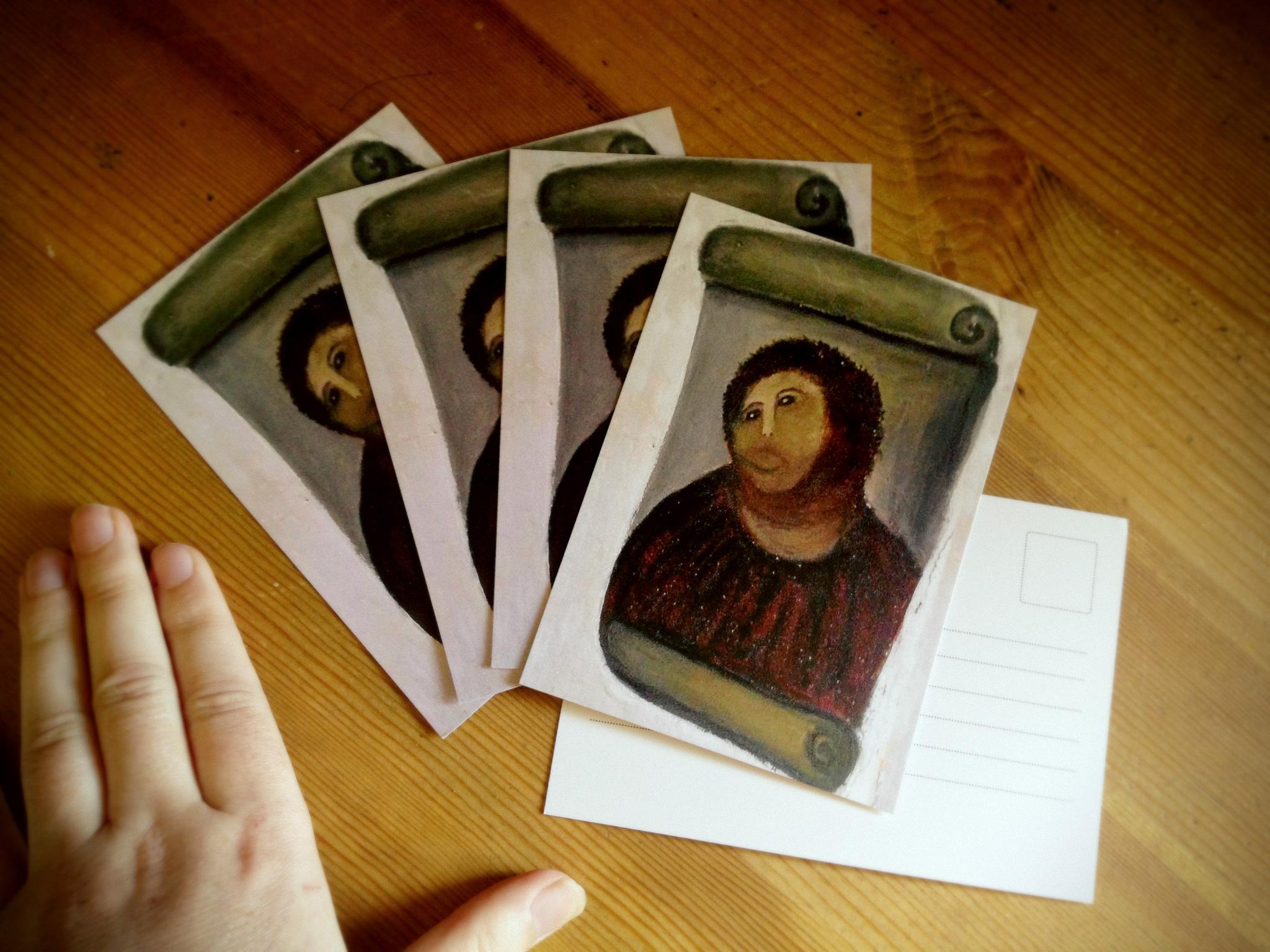 Postcards of Monkey Jesus