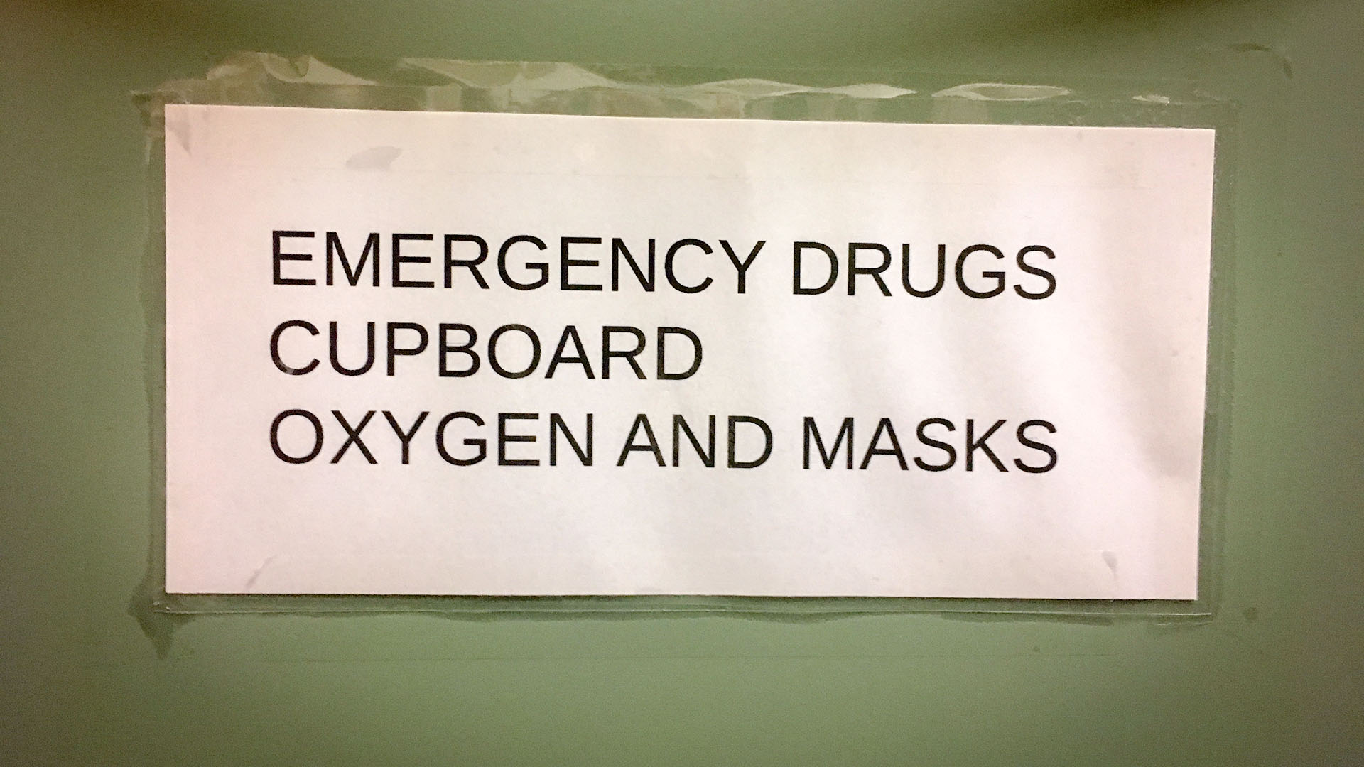 Cupboard with drugs in