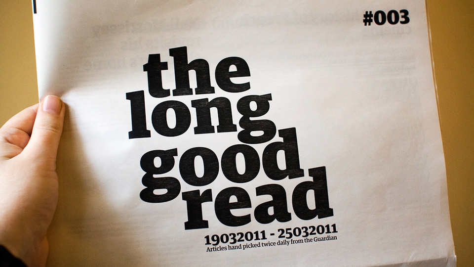The Long Good Read Newspaper, an iteration and a mini analysis of 10 O'Clock Live