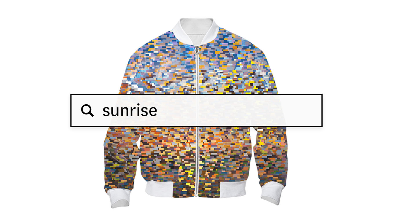 """Sunrise"" custom Bomber Jacket, courtesy of sosolimited © 2015"