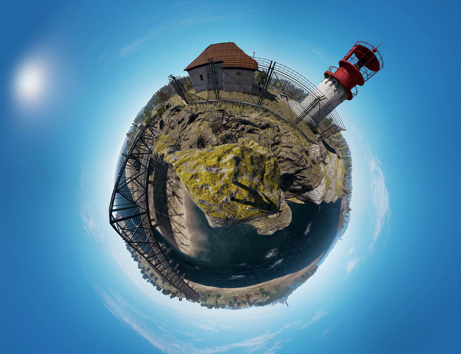 Lighthouse Tiny Planet View