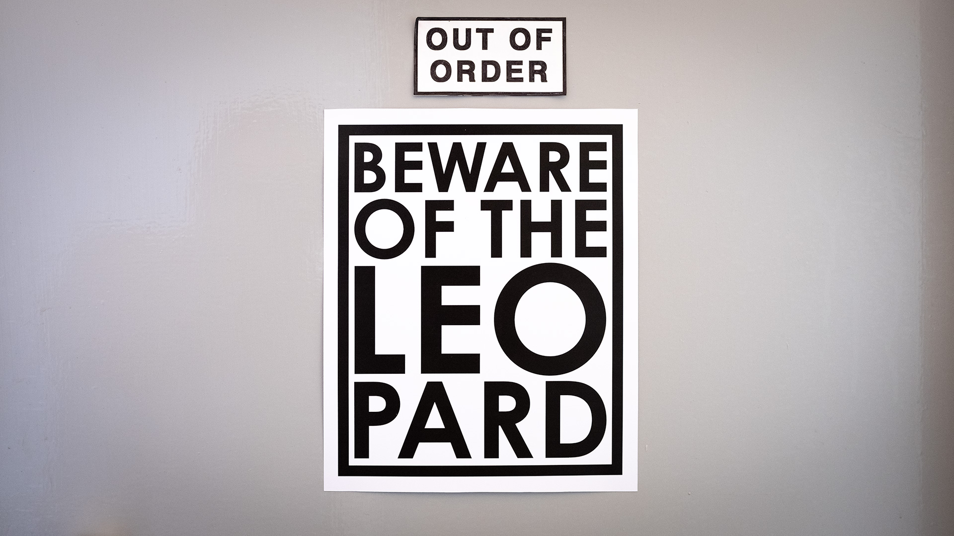 Beware of the Leopard poster