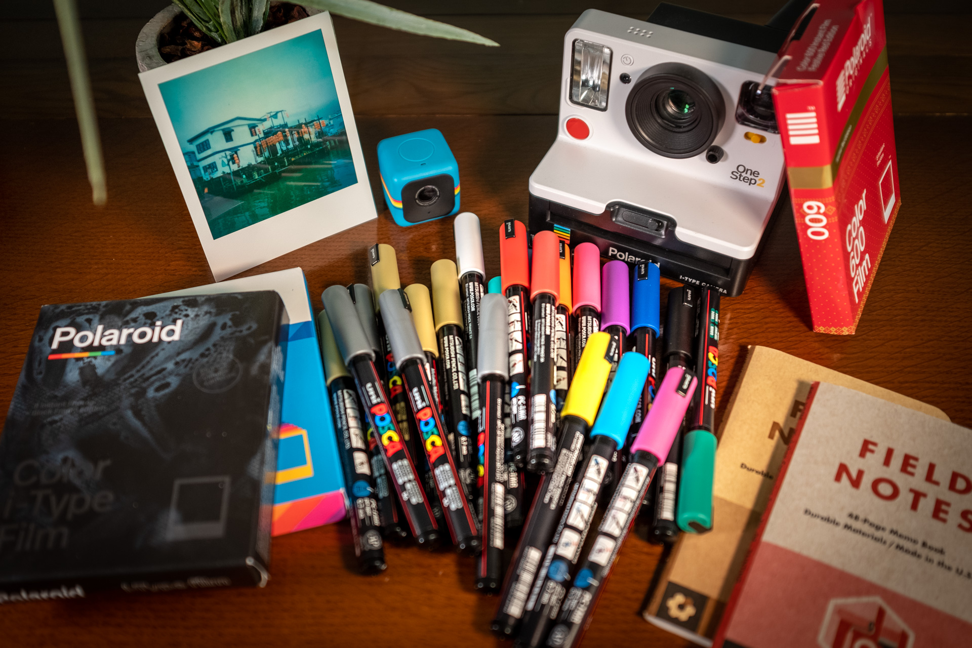 Pens and Polaroids